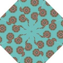 Circle Vector Background Abstract Golf Umbrellas