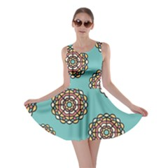 Circle Vector Background Abstract Skater Dress