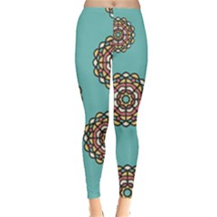 Circle Vector Background Abstract Leggings