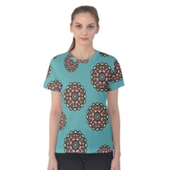 Circle Vector Background Abstract Women s Cotton Tee