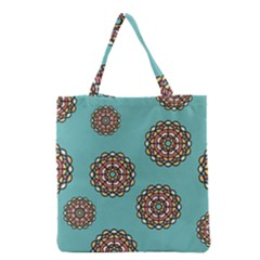 Circle Vector Background Abstract Grocery Tote Bag
