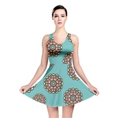 Circle Vector Background Abstract Reversible Skater Dress