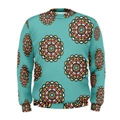Circle Vector Background Abstract Men s Sweatshirt