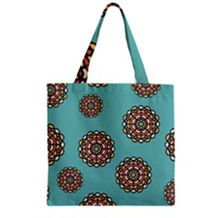 Circle Vector Background Abstract Zipper Grocery Tote Bag