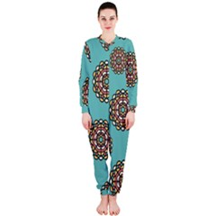 Circle Vector Background Abstract Onepiece Jumpsuit (ladies)