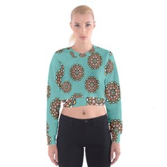 Circle Vector Background Abstract Cropped Sweatshirt