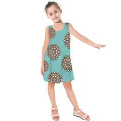 Circle Vector Background Abstract Kids  Sleeveless Dress
