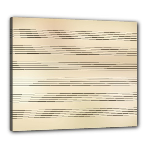 Notenblatt Paper Music Old Yellow Canvas 24  x 20