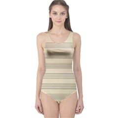 Notenblatt Paper Music Old Yellow One Piece Swimsuit
