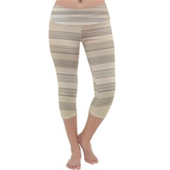 Notenblatt Paper Music Old Yellow Capri Yoga Leggings