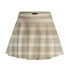 Notenblatt Paper Music Old Yellow Mini Flare Skirt