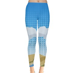 Grid Sky Course Texture Sun Leggings