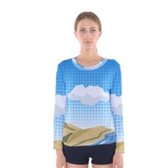 Grid Sky Course Texture Sun Women s Long Sleeve Tee