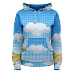 Grid Sky Course Texture Sun Women s Pullover Hoodie