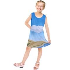 Grid Sky Course Texture Sun Kids  Tunic Dress