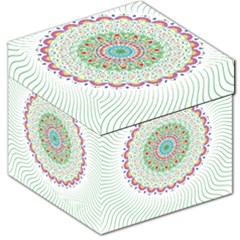 Flower Abstract Floral Storage Stool 12