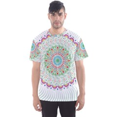 Flower Abstract Floral Men s Sport Mesh Tee