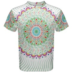 Flower Abstract Floral Men s Cotton Tee