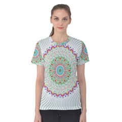 Flower Abstract Floral Women s Cotton Tee