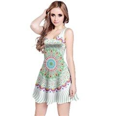 Flower Abstract Floral Reversible Sleeveless Dress