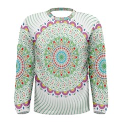 Flower Abstract Floral Men s Long Sleeve Tee