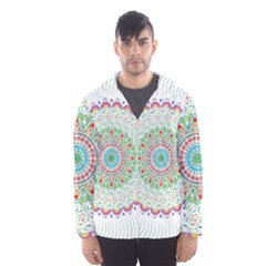 Flower Abstract Floral Hooded Wind Breaker (men)