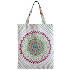 Flower Abstract Floral Zipper Classic Tote Bag