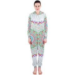 Flower Abstract Floral Hooded Jumpsuit (Ladies)