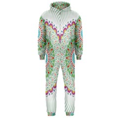 Flower Abstract Floral Hooded Jumpsuit (men)