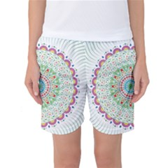 Flower Abstract Floral Women s Basketball Shorts