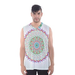 Flower Abstract Floral Men s Basketball Tank Top