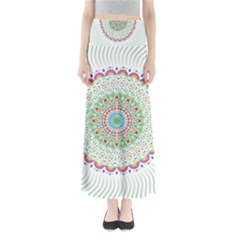 Flower Abstract Floral Maxi Skirts