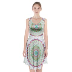 Flower Abstract Floral Racerback Midi Dress