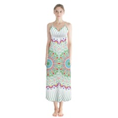 Flower Abstract Floral Chiffon Maxi Dress