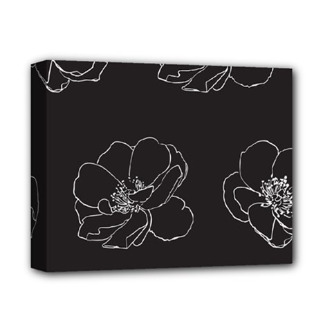 Rose Wild Seamless Pattern Flower Deluxe Canvas 14  x 11
