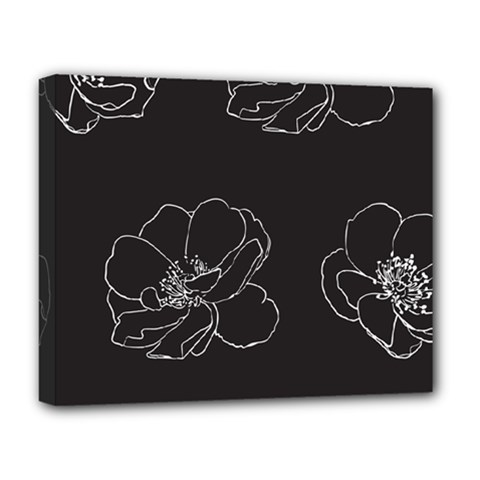 Rose Wild Seamless Pattern Flower Deluxe Canvas 20  X 16