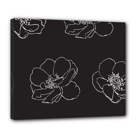 Rose Wild Seamless Pattern Flower Deluxe Canvas 24  x 20