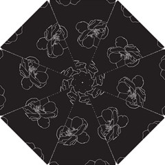 Rose Wild Seamless Pattern Flower Hook Handle Umbrellas (small)