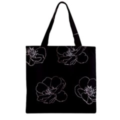 Rose Wild Seamless Pattern Flower Zipper Grocery Tote Bag