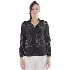 Rose Wild Seamless Pattern Flower Wind Breaker (Women)
