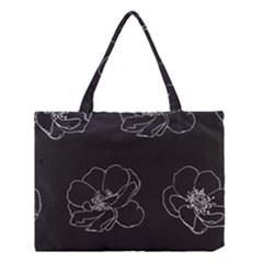 Rose Wild Seamless Pattern Flower Medium Tote Bag