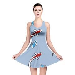 Koi Carp East Vector Seamless Reversible Skater Dress