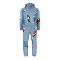 Koi Carp East Vector Seamless Hooded Jumpsuit (kids)