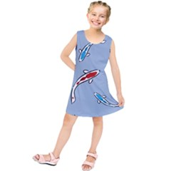 Koi Carp East Vector Seamless Kids  Tunic Dress