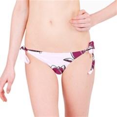 Magnolia Seamless Pattern Flower Bikini Bottom