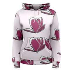 Magnolia Seamless Pattern Flower Women s Pullover Hoodie