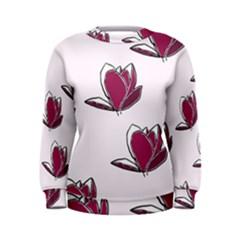 Magnolia Seamless Pattern Flower Women s Sweatshirt
