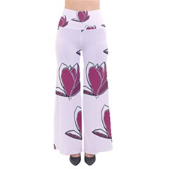 Magnolia Seamless Pattern Flower Pants