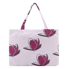 Magnolia Seamless Pattern Flower Medium Tote Bag