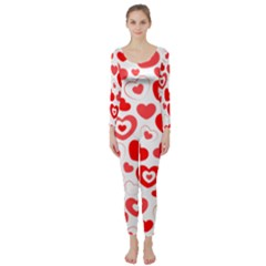 Cards Ornament Design Element Gala Long Sleeve Catsuit